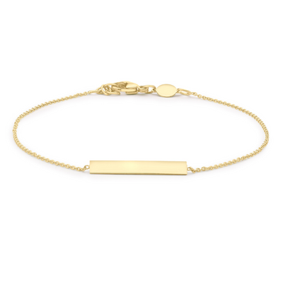 9ct Gold ID Bar Bracelet