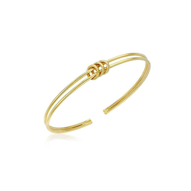 9ct Gold Knot Torque Bangle