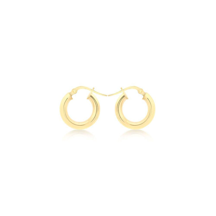 9ct Gold Small Creole Hoop Earrings