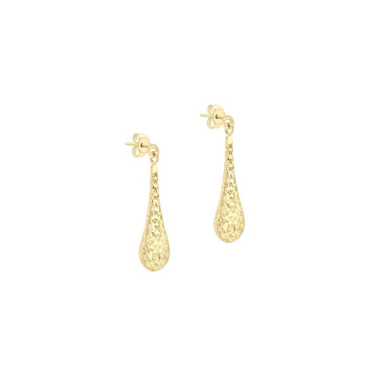 9ct Gold Tear Drop Earrings