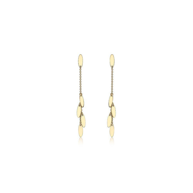 9ct Gold Ovals Drop Earrings