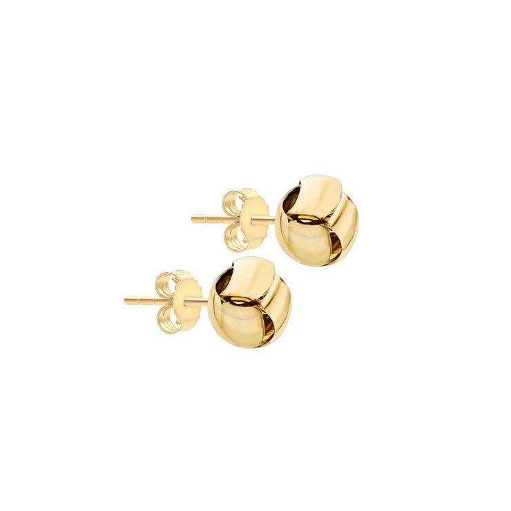 9ct Gold Ribbon Knot Earrings