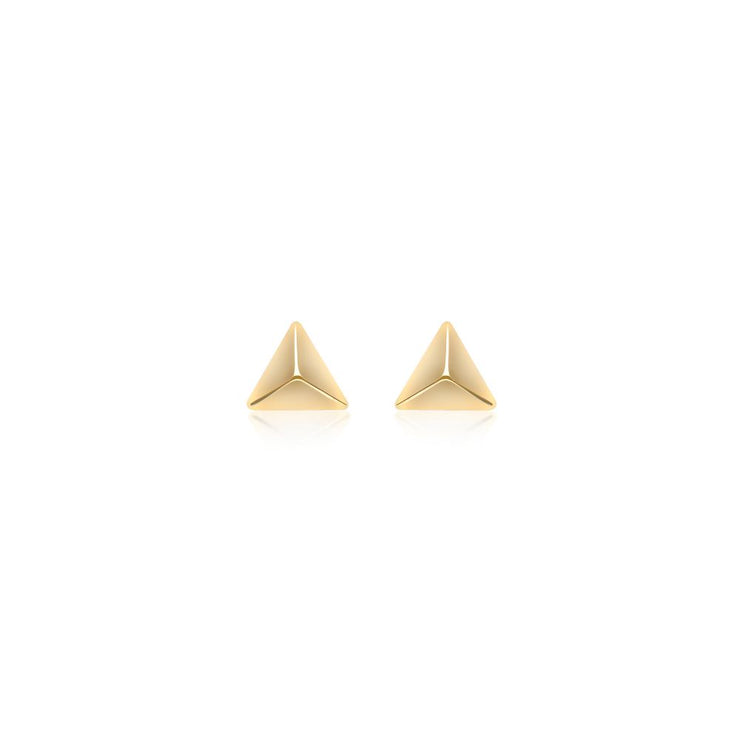 9ct Gold Pyramid Stud Earrings