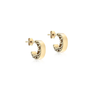 9ct Gold Huggy Earrings