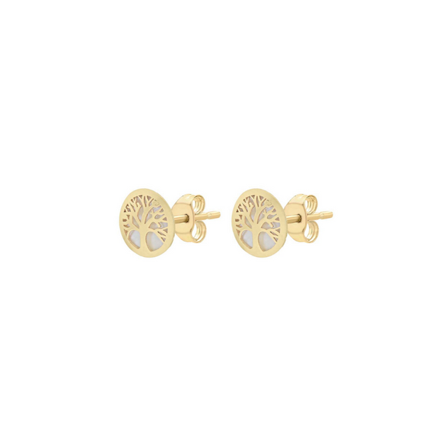 9ct Gold Tree of Life Stud Earrings
