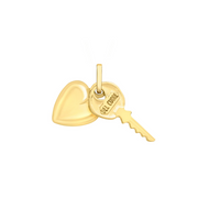 9ct Gold Key and Heart Charm