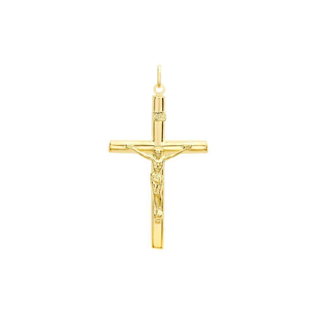 9ct Gold Large Crucifix Pendant