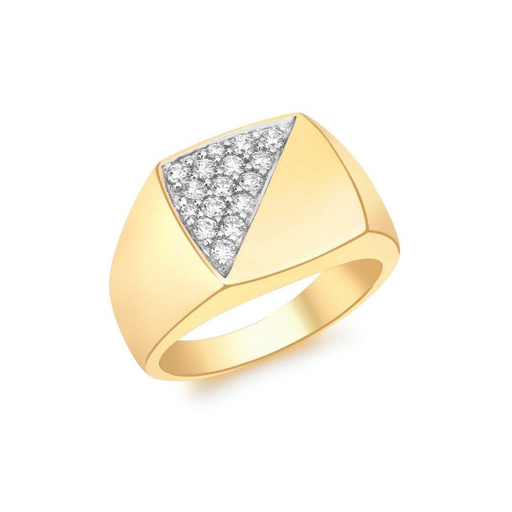 9ct Gold CZ Signet Ring