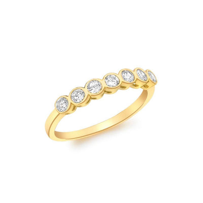 9ct Gold CZ Eternity Style Ring