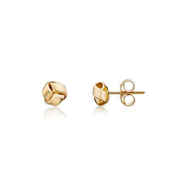 9ct Gold Stud Knot Earrings