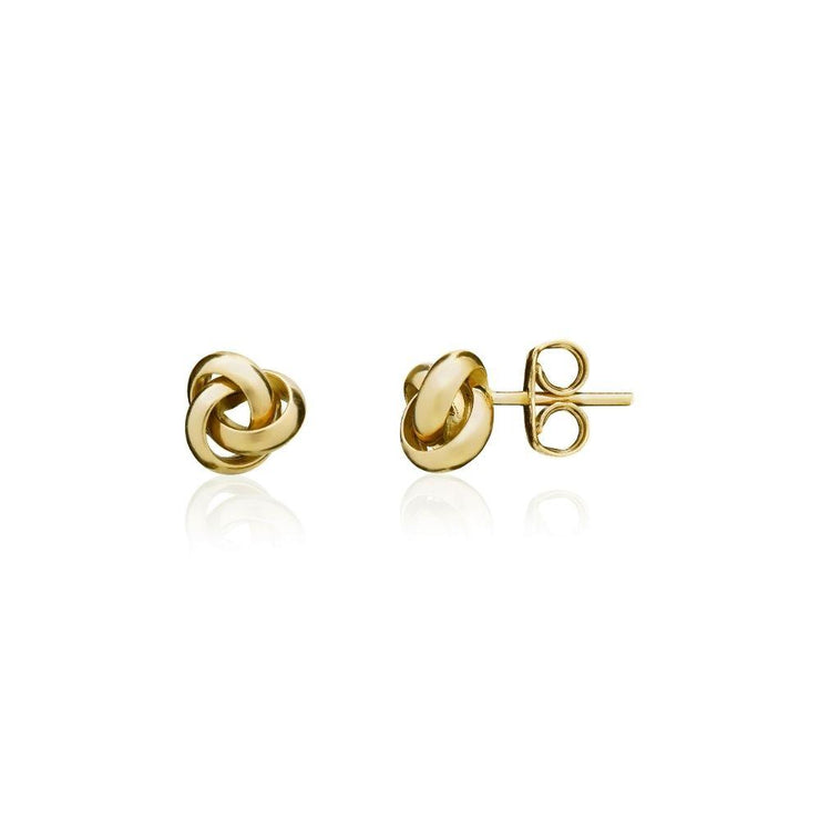 9ct Gold Polished Knot Stud Earrings