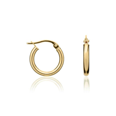 9ct Gold 2mm Hinged Hoops