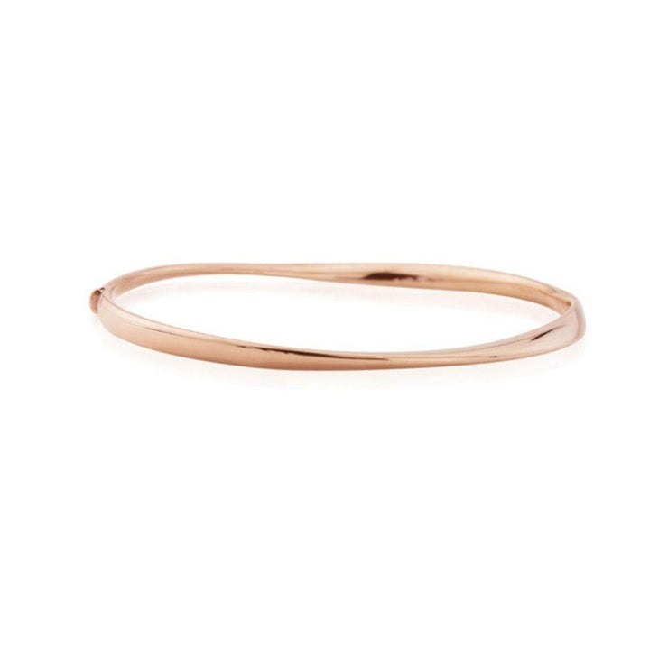 9ct Rose Gold Twisted Narrow Bangle