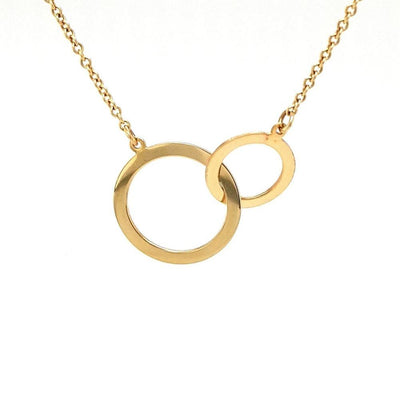 14ct Gold Interlocking Circles Necklace