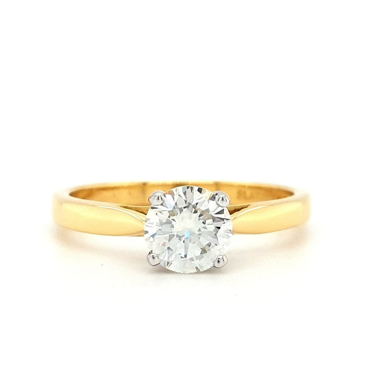 18ct Gold 0.84ct Diamond Solitaire Engagement Ring