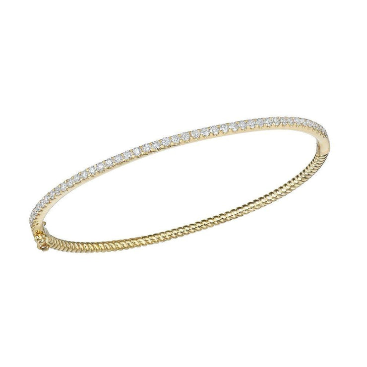 18ct Gold and Diamond Bangle