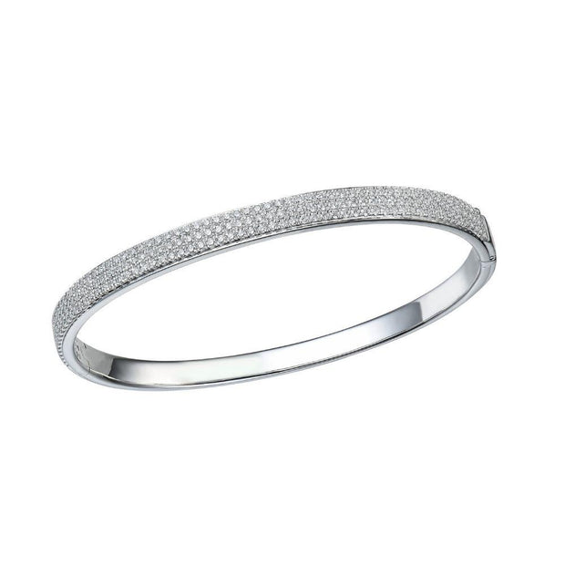 18ct White Gold and Diamond Bangle