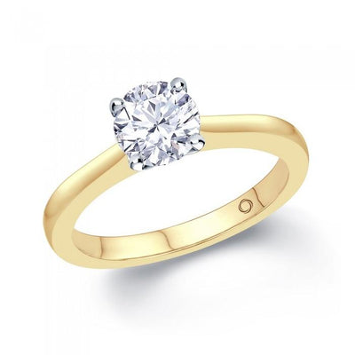 18ct Yellow Gold 0.50ct Diamond Solitaire Engagement Ring