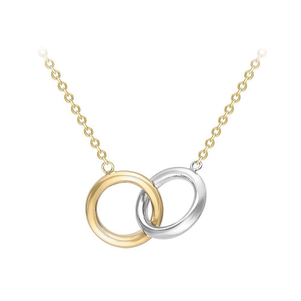 9ct Gold Two-Tone Medium Circles Necklace