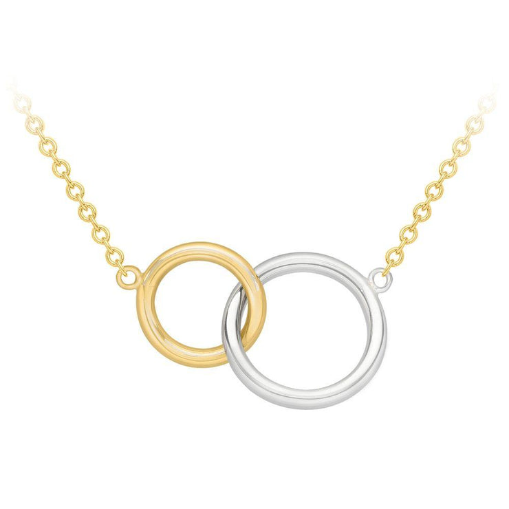 9ct Gold Two-Tone Circles Necklace