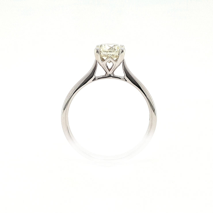 18ct White Gold 1ct Diamond Solitaire Engagement Ring