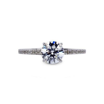 Carat London 9ct White Gold Microset Solitaire Ring