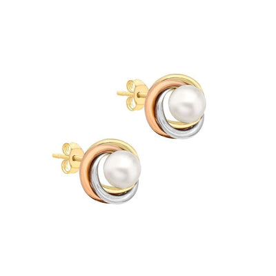 9ct Gold Cultured Pearl Stud Earrings