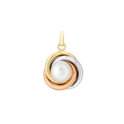 9ct Gold Cultured Pearl Knot Necklace