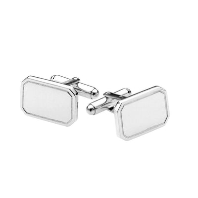 Sterling Silver Polished Rectangle Cufflinks