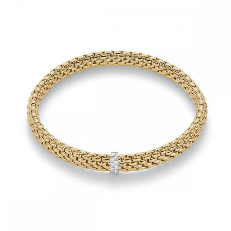 FOPE Vendome 18ct Yellow Gold Diamond Bracelet 560B BBRM