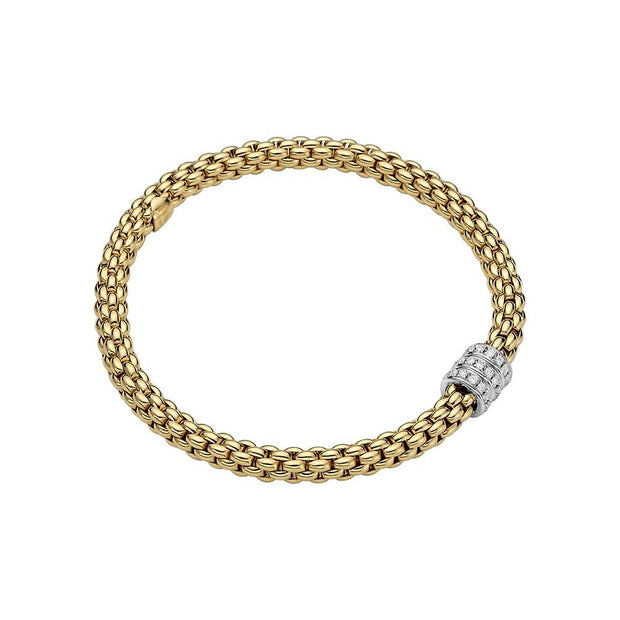 FOPE Solo 18ct Yellow Gold Diamond Bracelet 623B BBRM