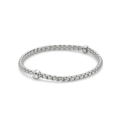 FOPE Flex'it Eka Tiny 18ct White Gold Bracelet 733B BBRM