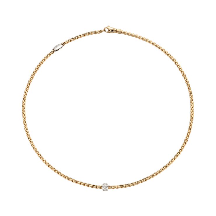 FOPE Flex'it Prima 18ct Yellow Gold Diamond Necklace 743C BBR