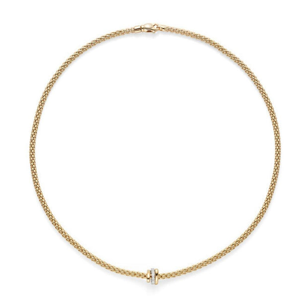 FOPE Flex'it Prima 18ct Gold and Diamond Necklace 744C BBR