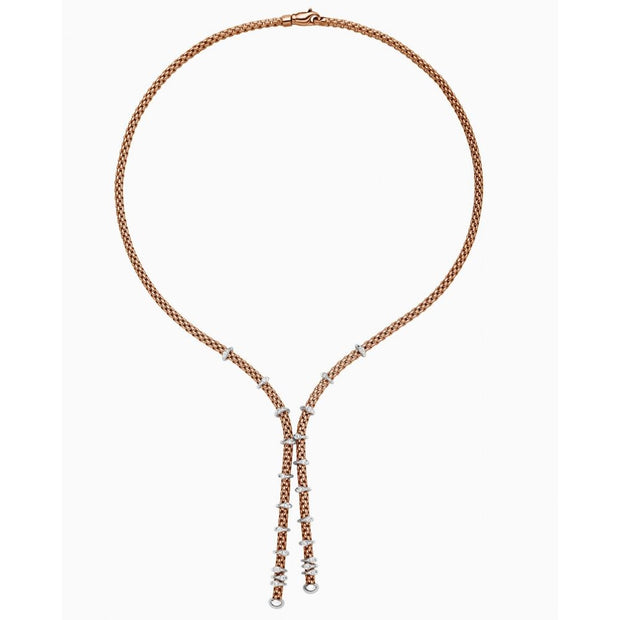 FOPE Flex'it Prima 18ct Rose Gold Rope Necklace 747C BBR