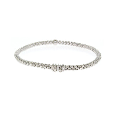 FOPE Flex'it Prima 18ct White Gold Diamond Bracelet 748B BBRM