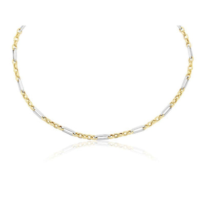 9ct Two-Tone Link Necklace