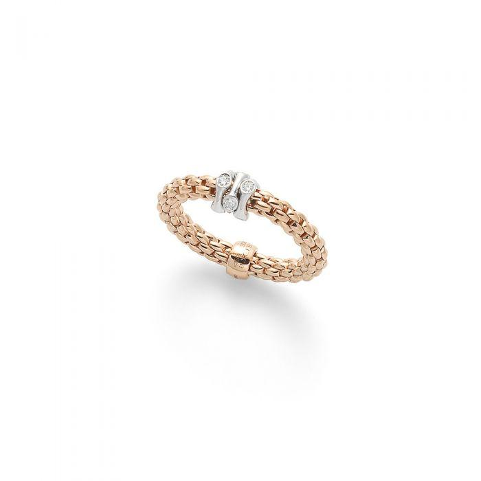 FOPE Flex'it Prima 18ct Rose Gold Ring  AN748 BBRM