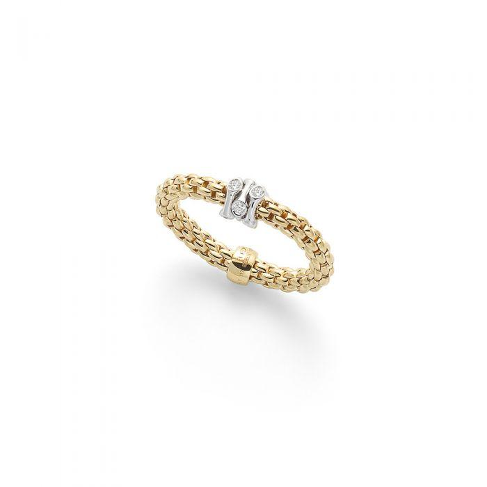 FOPE Flex'it Prima 18ct Yellow Gold Ring  AN748 BBRM