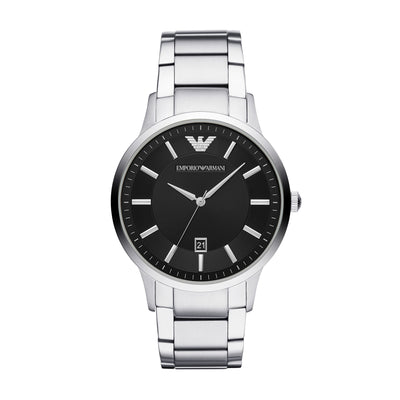 Emporio Armani Reanto Steel Black Mens Watch AR11181
