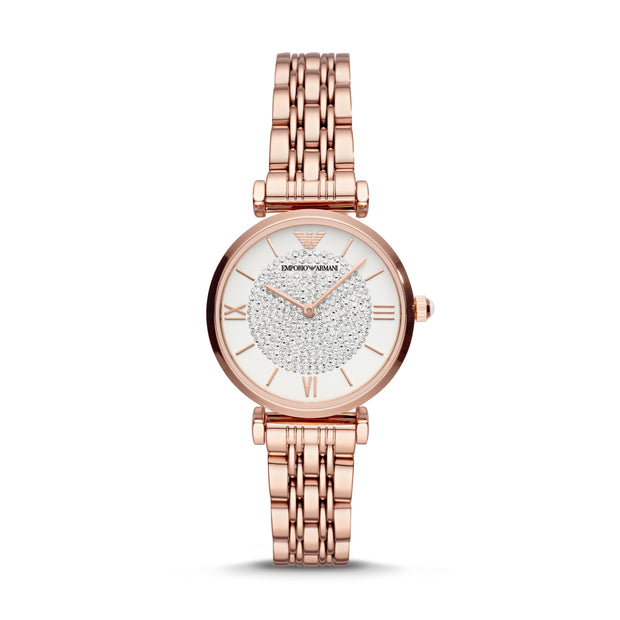 Emporio Armani Gianni Rose Gold Ladies Watch AR11244