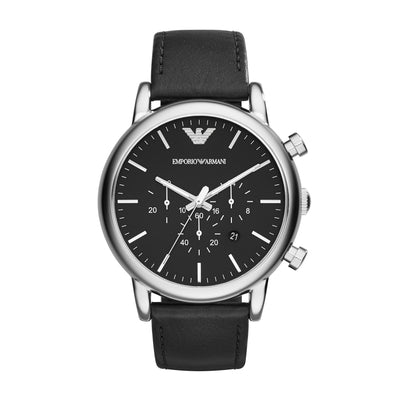 Emporio Armani Luigi Black Chrono Mens Watch AR1828