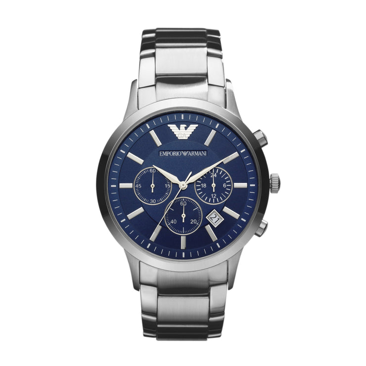 Emporio Armani Renato Steel Blue Mens Watch AR2448