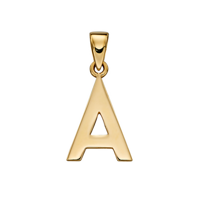 9ct Gold 'A' Initial Pendant