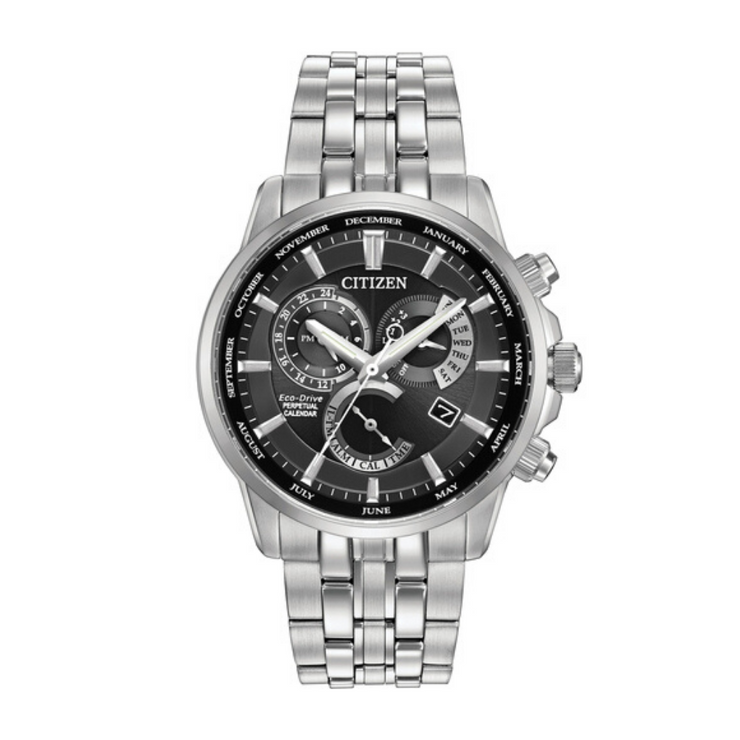 Citizen Eco-Drive Perpetual Calendar Steel Chronograph Watch BL8140.55E