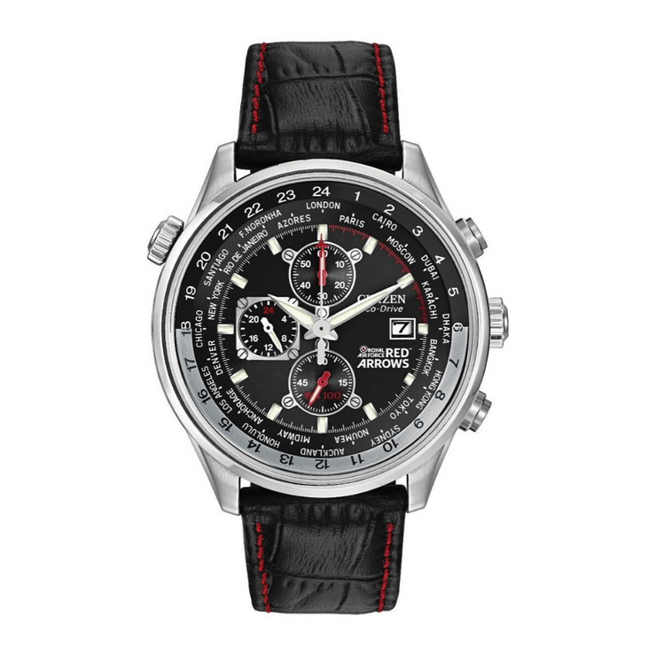 Citizen Eco-Drive Red Arrows Black Chronograph Watch CA0080.03E