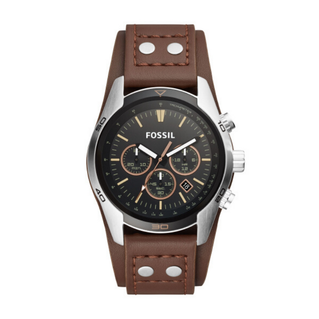 Fossil Coachman Black Dial Brown Watch CH2891