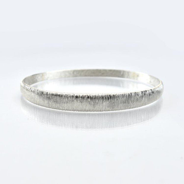 Martina Hamilton Croi Sliogan Silver Bangle CS8
