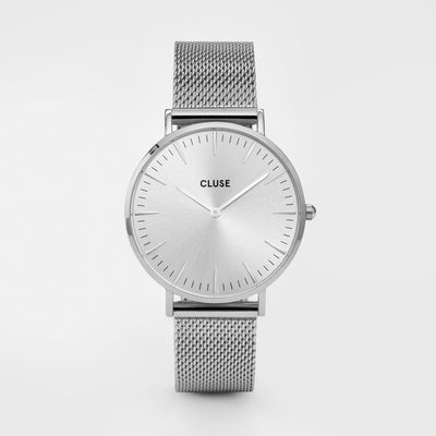 Cluse Steel and Silver Mesh 38mm Watch CW0101201013