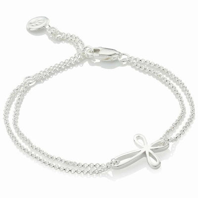 Molly Brown Cherish Silver Cross Bracelet MB241-05
